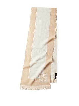 Givenchy Unisex Wool-Blend Logo Scarf, Beige/Ivory