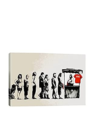 Banksy Destroy Capitalism Gallery Wrapped Canvas Print