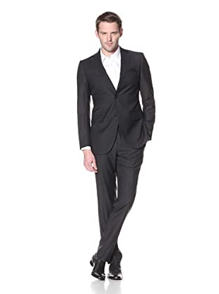 Lubiam Studio Men's 2-Button Suit (Black)