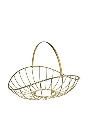 Uptown Down Previously Owned Brass Wire Floor Basket