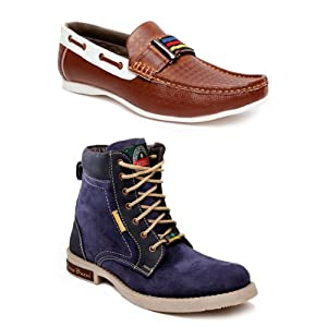 Bacca Bucci Men Boots And Loafers Combo BB Green Hill Laos 2050 By Bacca Bucci