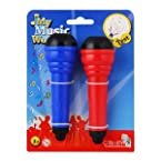Music World 2 Pcs Plastic Echo Microphone Set