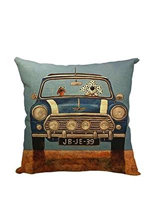 LO+DEMODA Kissenbezug Blue Car
