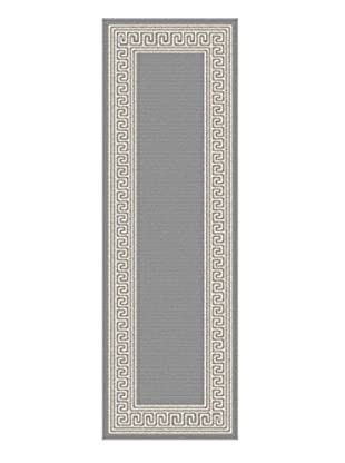 Universal Rugs Garden City Indoor/Outdoor Transitional Runner, Gray, 3' x 8'