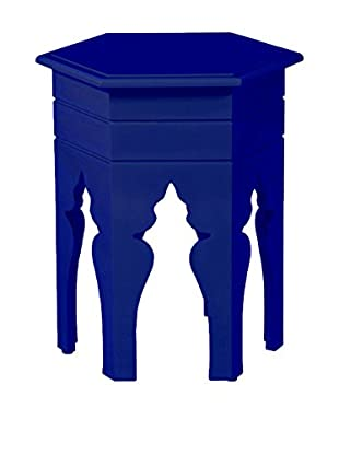 Article 24 Hex Accent Table, Navy