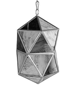 Glass/Metal Chandelier, Silver