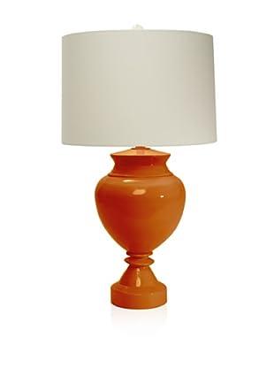 Aqua Vista Lighting Brompton Spun Bamboo Table Lamp, Orange Ochre