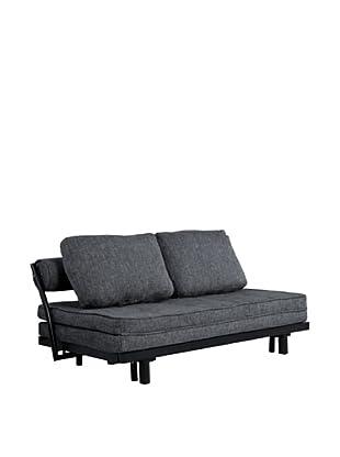 Abbyson Living Flora Convertible Sofa Bed, Pebble Grey