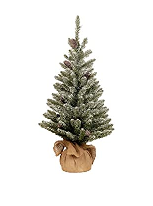 National Tree Company 3' Snowy Concolor Fir Small Tree in Burlap