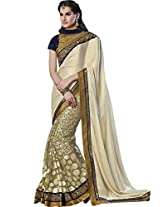 Sapphire Fashions Women's Green Georgette Saree