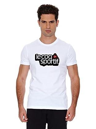 Le Coq Sportif Camiseta Ligne Logo 2 Gui Tee Ss M (Blanco)
