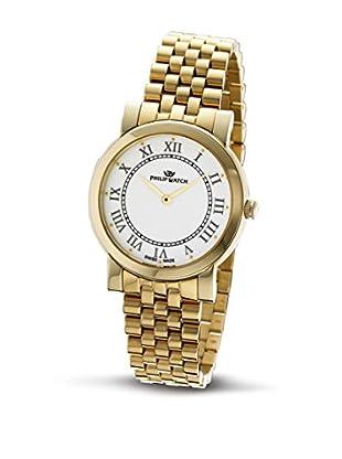 Philip Watch Quarzuhr Slim goldfarben 34  mm