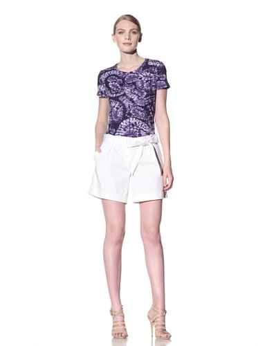 Lafayette 148 New York Women's Pleated Shorts (White)