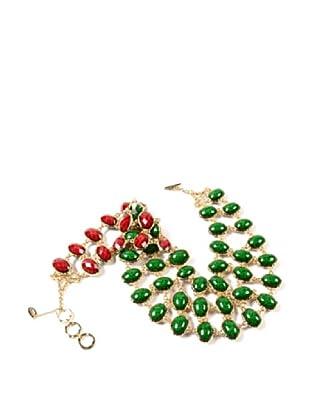Amrita Singh Collar Hampton Reversible Bib Verde / Rubí
