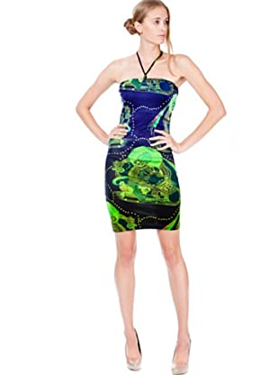 Custo Vestido (Verde/Azul)