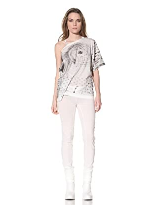 Ann Demeulemeester Women's Off-the-Shoulder Top (Off-White)