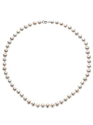 Le Perle di Emi Kaway Girocollo Perle Oro Bianco 18k 7,50-8 mm