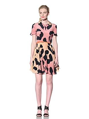House of Holland Women's Leopard Print Polo Dress (orange/pink)