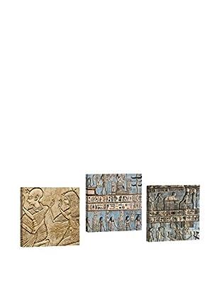 Dekorjinal Set, 3-teilig dekoratives Bild Ahm002 (mehrfarbig)