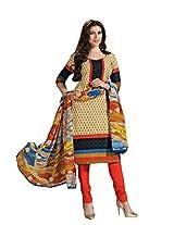 Suit Pure Cotton with Chiffon Dupatta