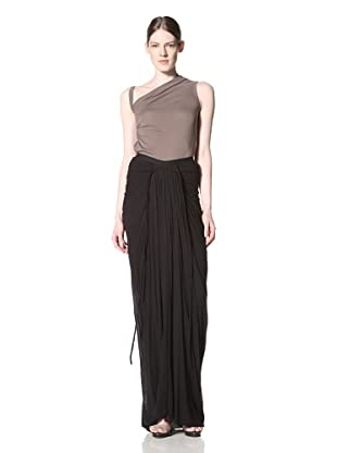 Rick Owens Lilies Women's Drape And Ruched Long Skirt (Black)