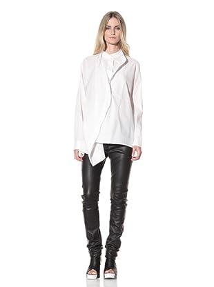 Ann Demeulemeester Women's Double-Button Front Shirt (Off-White)