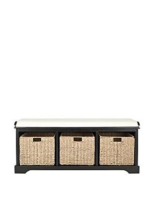 Safavieh Lonan Storage Bench, Black