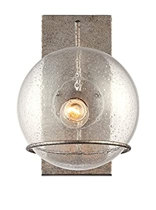Varaluz Watson 1-Light Wall Lighting, Silver Age/Clear