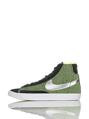 Nike Zapatillas Blazer Mid Vintage Le (Gs) (Negro/Amarillo/Plata)