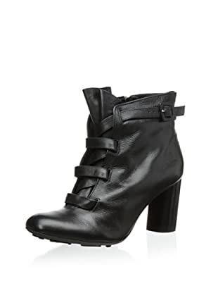 Klub Nico Women's Bennett Wide Laced Ankle Bootie (Black)