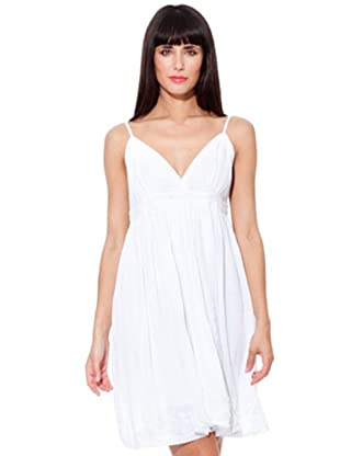 Peace & Love Vestido Capa (blanco)