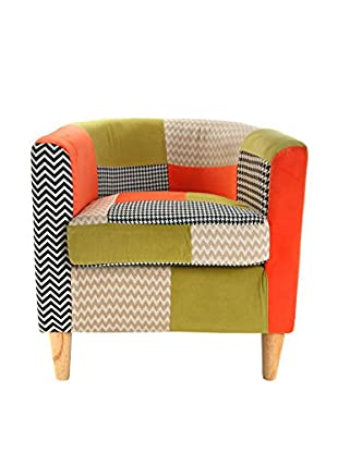 Mimma Sessel Houndstooth Patchwork