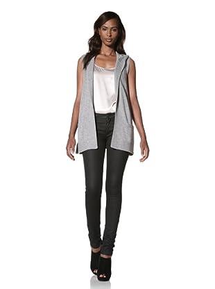 KOKUN Women's Hooded Vest (Grey)