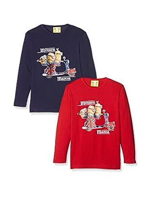 Fantasia Pack x 2 Camiseta Manga Larga Minion Mania Boy