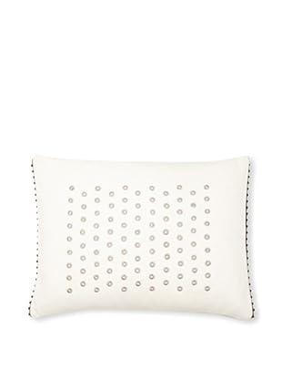 Vera Wang Ribbon Stripe Decorative Pillow, White, 15