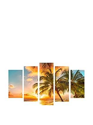 LO+DEMODA Leinwandbild 5 tlg. Set Palms