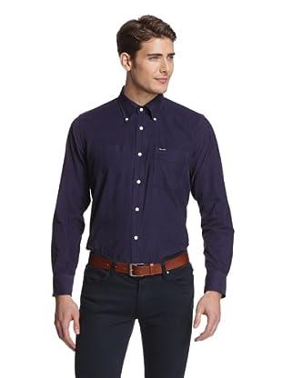 Façonnable Men's Solid Corduroy Shirt (Midnight)