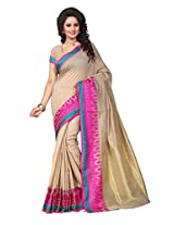 Shree Sanskruti Self Design Tassar Silk Pink Color Saree For Women With Blouse Piece