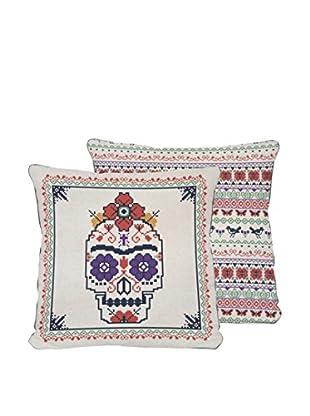 ReallyNiceThings Cojín Coyoacan Skull