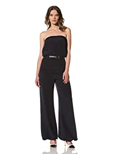 HOLMES AND YANG Women's Strapless Jumpsuit (Navy)