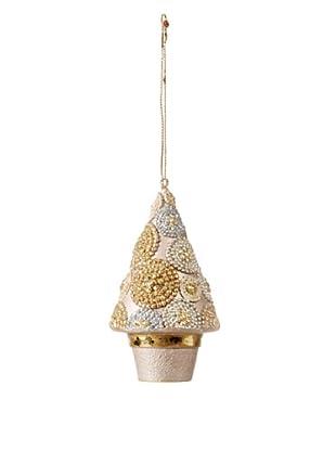 Golden Treasures Two-Tone Christmas Tree Ornament