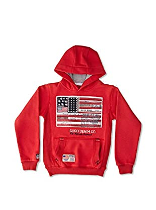 Gangster Unit Sudadera Flagamerica Boy (Rojo)