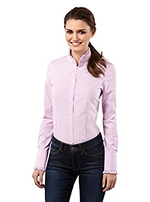 Vincenzo Boretti Camisa Mujer Modern-Fit, Easy Iron