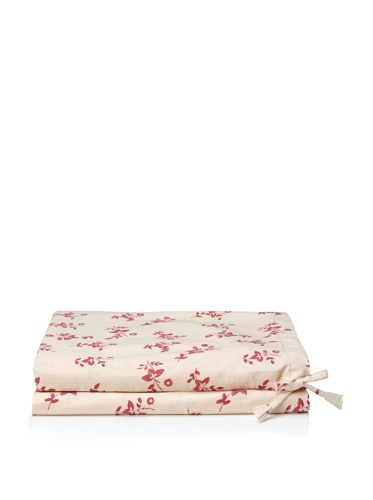 Kerry Cassill Fitted Sheet (Cranberry Floral)