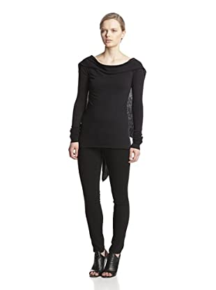 Rick Owens Lilies Women's Back Drape Sweater (Black)