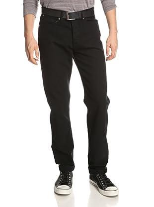 Paper Denim & Cloth Men's Canvas Skinny Jean (Black)