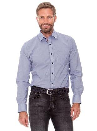 Cortefiel Camisa Cuadros Pequeños (gris oscuro)