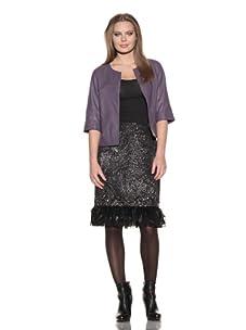 Lafayette 148 New York Women's Leather Marlo Jacket (Willow)