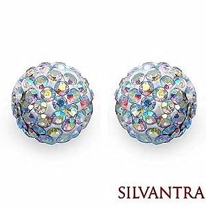 Silvantra Crystal Silver Earrings
