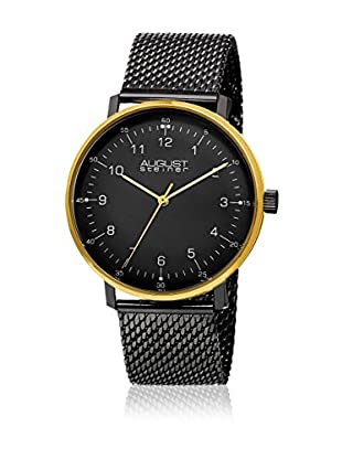 August Steiner Uhr mit schweizer Quarzuhrwerk Man AS8091BKG schwarz 44 mm
